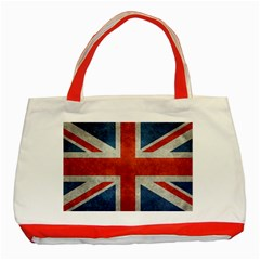Union Jack 3x5 V10 Vintage Bright Print F Sml Classic Tote Bag (red)  by bruzer