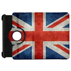 Union Jack 3x5 V10 Vintage Bright Print F Sml Kindle Fire Hd Flip 360 Case by bruzer