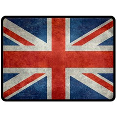 Union Jack 3x5 V10 Vintage Bright Print F Sml Double Sided Fleece Blanket (large)  by bruzer