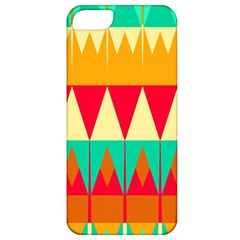 Triangles And Other Retro Colors Shapes apple Iphone 5 Classic Hardshell Case by LalyLauraFLM