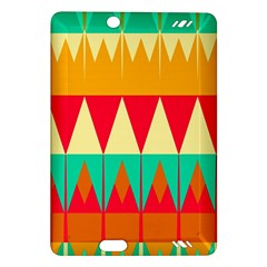 Triangles And Other Retro Colors Shapes kindle Fire Hd (2013) Hardshell Case by LalyLauraFLM