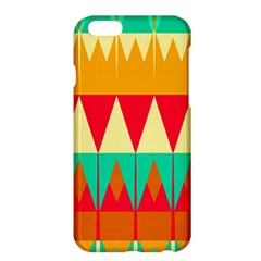 Triangles And Other Retro Colors Shapes apple Iphone 6 Plus/6s Plus Hardshell Case by LalyLauraFLM