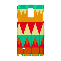 Triangles And Other Retro Colors Shapes 			samsung Galaxy Note 4 Hardshell Case by LalyLauraFLM