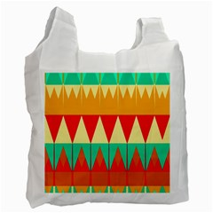 Triangles And Other Retro Colors Shapes Recycle Bag by LalyLauraFLM
