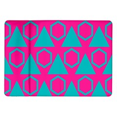 Triangles And Honeycombs Pattern 			samsung Galaxy Tab 10 1  P7500 Flip Case by LalyLauraFLM