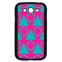 Triangles And Honeycombs Pattern 			samsung Galaxy Grand Duos I9082 Case (black) by LalyLauraFLM