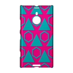 Triangles And Honeycombs Pattern 			nokia Lumia 1520 Hardshell Case by LalyLauraFLM