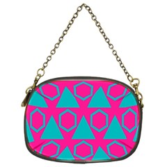 Triangles And Honeycombs Pattern chain Purse (two Sides) by LalyLauraFLM