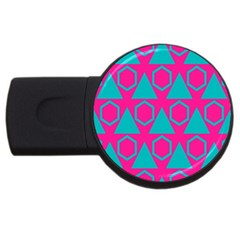 Triangles And Honeycombs Pattern usb Flash Drive Round (2 Gb) by LalyLauraFLM