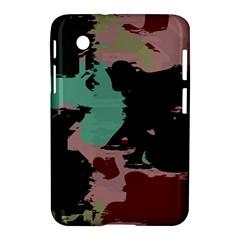 Retro Colors Texture samsung Galaxy Tab 2 (7 ) P3100 Hardshell Case by LalyLauraFLM