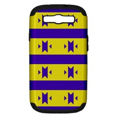 Tribal Shapes And Stripes 			samsung Galaxy S Iii Hardshell Case (pc+silicone) by LalyLauraFLM