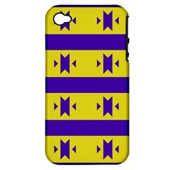 Tribal Shapes And Stripes apple Iphone 4/4s Hardshell Case (pc+silicone) by LalyLauraFLM
