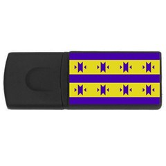 Tribal Shapes And Stripes usb Flash Drive Rectangular (4 Gb) by LalyLauraFLM