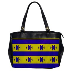 Tribal Shapes And Stripes oversize Office Handbag by LalyLauraFLM