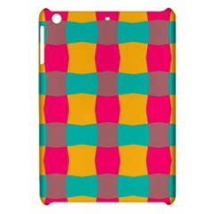 Distorted Shapes In Retro Colors Pattern apple Ipad Mini Hardshell Case by LalyLauraFLM