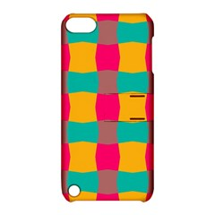 Distorted Shapes In Retro Colors Pattern 			apple Ipod Touch 5 Hardshell Case With Stand by LalyLauraFLM