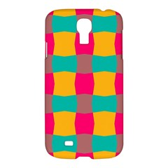 Distorted Shapes In Retro Colors Pattern 			samsung Galaxy S4 I9500/i9505 Hardshell Case by LalyLauraFLM