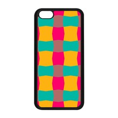 Distorted Shapes In Retro Colors Pattern 			apple Iphone 5c Seamless Case (black) by LalyLauraFLM