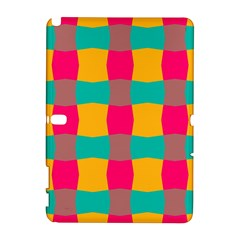 Distorted shapes in retro colors pattern 			Samsung Galaxy Note 10.1 (P600) Hardshell Case by LalyLauraFLM