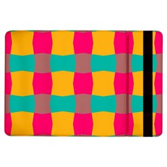 Distorted shapes in retro colors pattern 			Apple iPad Air Flip Case by LalyLauraFLM