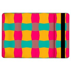 Distorted Shapes In Retro Colors Pattern apple Ipad Air 2 Flip Case by LalyLauraFLM
