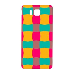 Distorted Shapes In Retro Colors Pattern samsung Galaxy Alpha Hardshell Back Case