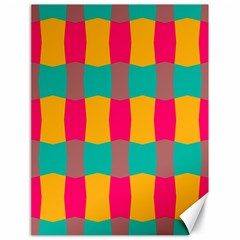Distorted Shapes In Retro Colors Pattern 			canvas 18  X 24  by LalyLauraFLM