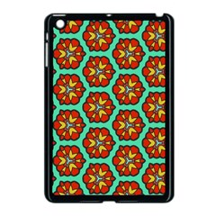 Red Flowers Pattern 			apple Ipad Mini Case (black) by LalyLauraFLM