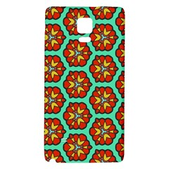 Red Flowers Pattern 			samsung Note 4 Hardshell Back Case by LalyLauraFLM