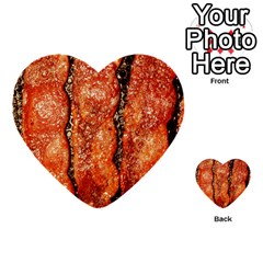 Bacon Cooking By Sandi Multi-purpose Cards (Heart)  by RakeClag