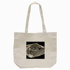 Modern Leaf Tote Bag (cream)  by timelessartoncanvas