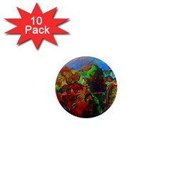 Chicago Park Painting 1  Mini Magnet (10 Pack)  by bloomingvinedesign