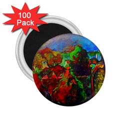 Chicago Park Painting 2 25  Magnets (100 Pack)  by bloomingvinedesign