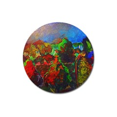 Chicago Park Painting Magnet 3  (round) by bloomingvinedesign