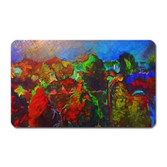 Chicago Park Painting Magnet (rectangular) by bloomingvinedesign