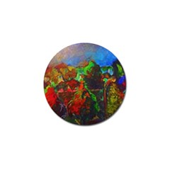 Chicago Park Painting Golf Ball Marker (10 Pack) by bloomingvinedesign