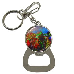 Chicago Park Painting Bottle Opener Key Chains by bloomingvinedesign
