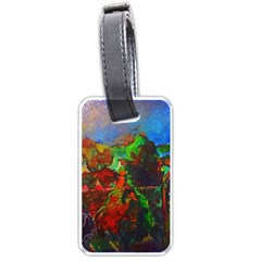 Chicago Park Painting Luggage Tags (one Side)  by bloomingvinedesign