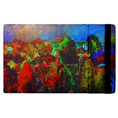 Chicago Park Painting Apple Ipad 3/4 Flip Case by bloomingvinedesign