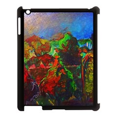 Chicago Park Painting Apple Ipad 3/4 Case (black) by bloomingvinedesign