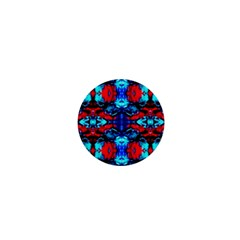 Red Black Blue Art Pattern Abstract 1  Mini Magnets by Costasonlineshop