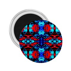 Red Black Blue Art Pattern Abstract 2 25  Magnets by Costasonlineshop
