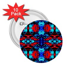 Red Black Blue Art Pattern Abstract 2 25  Buttons (10 Pack)  by Costasonlineshop