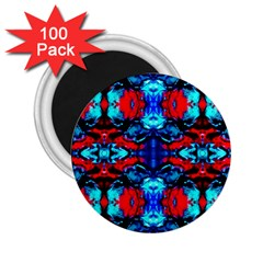 Red Black Blue Art Pattern Abstract 2 25  Magnets (100 Pack)  by Costasonlineshop
