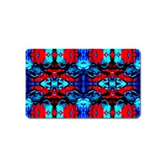 Red Black Blue Art Pattern Abstract Magnet (name Card) by Costasonlineshop