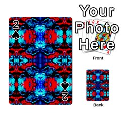 Red Black Blue Art Pattern Abstract Playing Cards 54 Designs  by Costasonlineshop