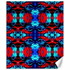 Red Black Blue Art Pattern Abstract Canvas 20  x 24   by Costasonlineshop