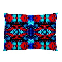 Red Black Blue Art Pattern Abstract Pillow Cases