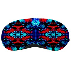 Red Black Blue Art Pattern Abstract Sleeping Masks by Costasonlineshop