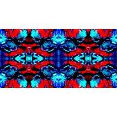 Red Black Blue Art Pattern Abstract You Are Invited 3d Greeting Card (8x4)  by Costasonlineshop